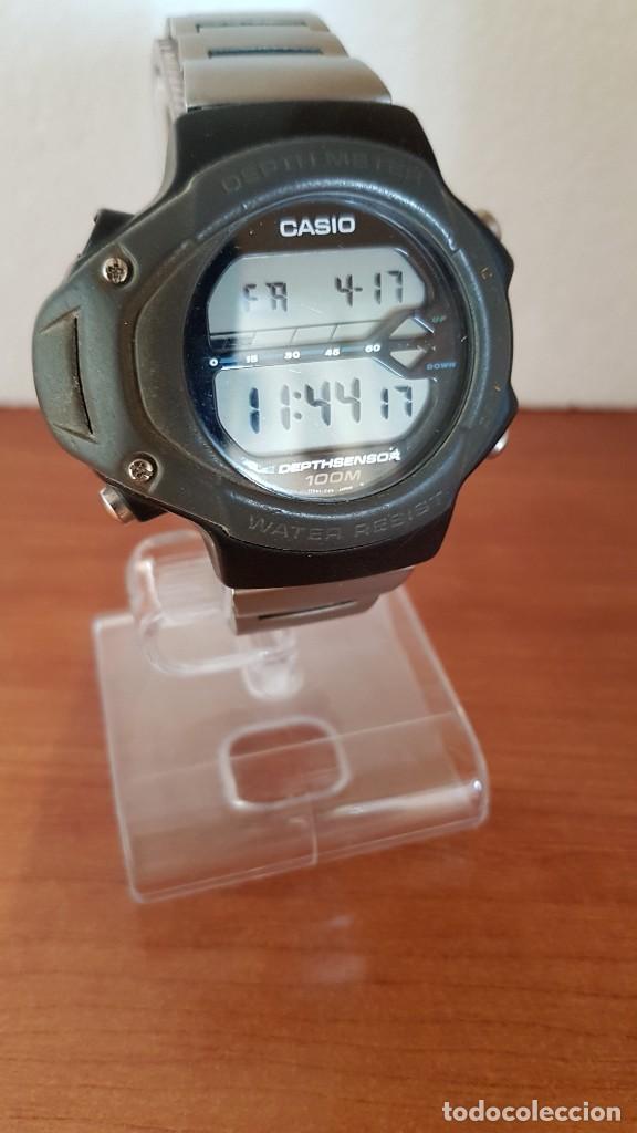 Relojes - Casio: Reloj caballero (Vintage) CASIO 994 - SNK - 100, cristal sin rayas, sensor, correa goma no original - Foto 6 - 200808926