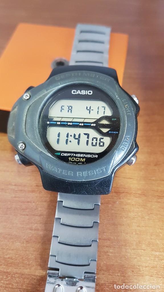 Relojes - Casio: Reloj caballero (Vintage) CASIO 994 - SNK - 100, cristal sin rayas, sensor, correa goma no original - Foto 8 - 200808926
