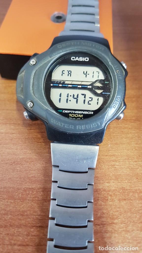 Relojes - Casio: Reloj caballero (Vintage) CASIO 994 - SNK - 100, cristal sin rayas, sensor, correa goma no original - Foto 11 - 200808926