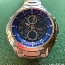 Relojes - Casio: CRONOGRAFO CASIO, MUY BUSCADO, ESFERA AZUL. Lote 202656840