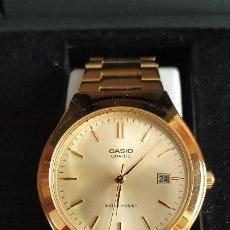 Relojes - Casio: RELOJ CASIO CUARZO .NUEVO.BAÑADO.. Lote 204257340