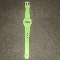 Relojes - Casio: RELOJ CASIO COLOR VERDE F 91 W , FUNCIONA INCLUIDA LA LUZ . LEER DESCRIPCION. Lote 207136838