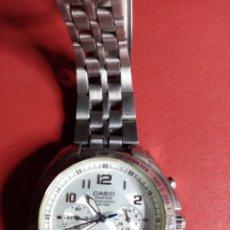Relojes - Casio: BONITO RELOJ CASIO EDIFICE CHONOGRAPH WR100 M. FUNCIONANDO ESTUPENDAMENTE. Lote 209727232