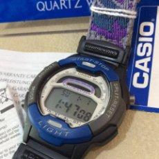 Relojes - Casio: RELOJ CASIO W 729 AZUL - CORREA MULTICOLOR - ¡¡NUEVO!! (VER FOTOS). Lote 212028406