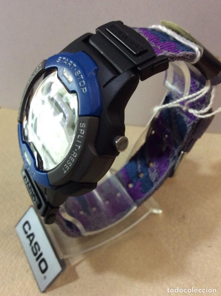 Relojes - Casio: RELOJ CASIO W 729 AZUL - CORREA MULTICOLOR - ¡¡NUEVO!! (VER FOTOS) - Foto 3 - 212028406