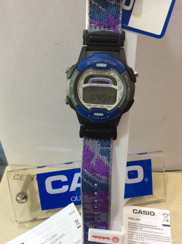Relojes - Casio: RELOJ CASIO W 729 AZUL - CORREA MULTICOLOR - ¡¡NUEVO!! (VER FOTOS) - Foto 4 - 212028406
