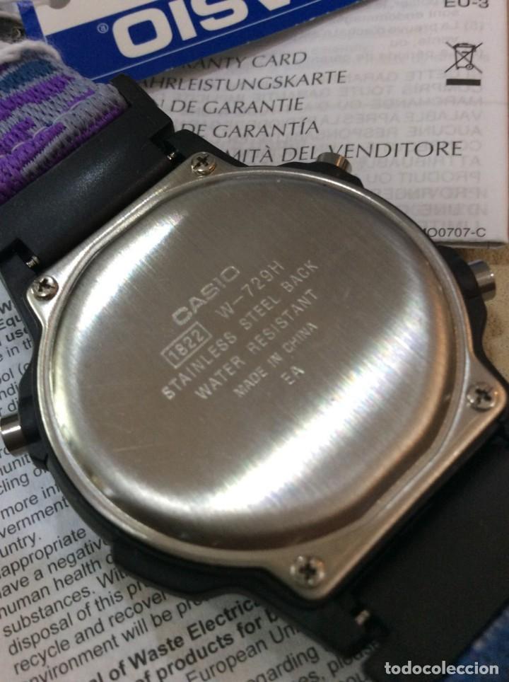 Relojes - Casio: RELOJ CASIO W 729 AZUL - CORREA MULTICOLOR - ¡¡NUEVO!! (VER FOTOS) - Foto 6 - 212028406