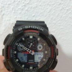 Relojes - Casio: RELOJ CASIO GSHOCK GA-100 COLOR NEGRO Y ROJO. Lote 212600631