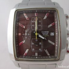 Relojes - Casio: EXCELENTE CRONÓGRAFO CASIO EDIFICE RECTANGULAR ESFERA MARRÓN FUNCIONANDO. Lote 212918417