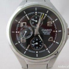 Relojes - Casio: MACIZO CASIO EDIFICE MULTIFUNCION ESFERA NEGRA CABALLERO #1. Lote 212918976