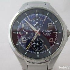 Relojes - Casio: MACIZO CASIO EDIFICE MULTIFUNCION ESFERA NEGRA CABALLERO #2. Lote 212919522