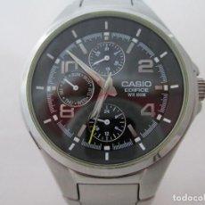 Relojes - Casio: MACIZO CASIO EDIFICE MULTIFUNCION ESFERA NEGRA CABALLERO #3. Lote 212921732
