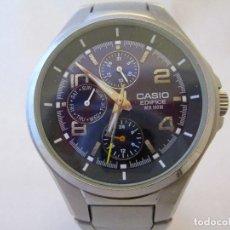 Relojes - Casio: MACIZO CASIO EDIFICE MULTIFUNCION ESFERA VIOLETA CABALLERO #1. Lote 212922476