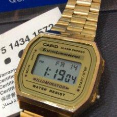Relojes - Casio: RELOJ CASIO A 168 GOLD ¡¡ DISEÑO VINTAGE !! (VER FOTOS). Lote 261793230