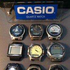 Relojes - Casio: ¡¡¡ 9 RELOJES CASIO VINTAGE !!! LOTE A ¡¡ DEFECTUOSOS !! (VER FOTOS). Lote 215472017
