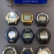Relojes - Casio: ¡¡¡ 9 RELOJES CASIO VINTAGE !!! LOTE F ¡¡ DEFECTUOSOS !! (VER FOTOS). Lote 215474326