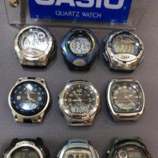 Relojes - Casio: ¡¡¡ 9 RELOJES CASIO VINTAGE !!! LOTE G ¡¡ DEFECTUOSOS !! (VER FOTOS). Lote 215475265
