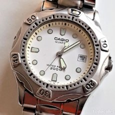 Relojes - Casio: RELO CASIO CALENDARIO ACERO QUARTZ - CAJA DE 37.MM DIAMETRO APROX. Lote 218211185