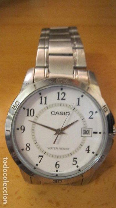 Relojes - Casio: GRAN RELOJ CASIO ANALOGICO, ACERO, CALENDARIO,FUNCIONANDO QUARTZ.DIAMETRO 40 MM.EN ESTUCHE CASIO - Foto 4 - 218473721
