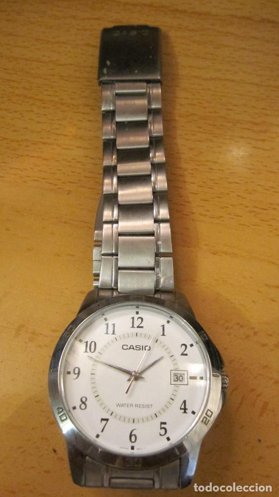 Relojes - Casio: GRAN RELOJ CASIO ANALOGICO, ACERO, CALENDARIO,FUNCIONANDO QUARTZ.DIAMETRO 40 MM.EN ESTUCHE CASIO - Foto 3 - 218473721