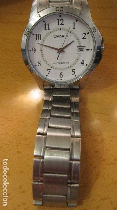 Relojes - Casio: GRAN RELOJ CASIO ANALOGICO, ACERO, CALENDARIO,FUNCIONANDO QUARTZ.DIAMETRO 40 MM.EN ESTUCHE CASIO - Foto 2 - 218473721