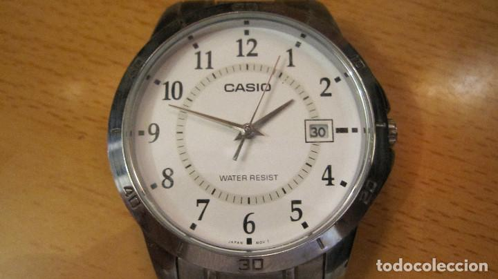 Relojes - Casio: GRAN RELOJ CASIO ANALOGICO, ACERO, CALENDARIO,FUNCIONANDO QUARTZ.DIAMETRO 40 MM.EN ESTUCHE CASIO - Foto 6 - 218473721