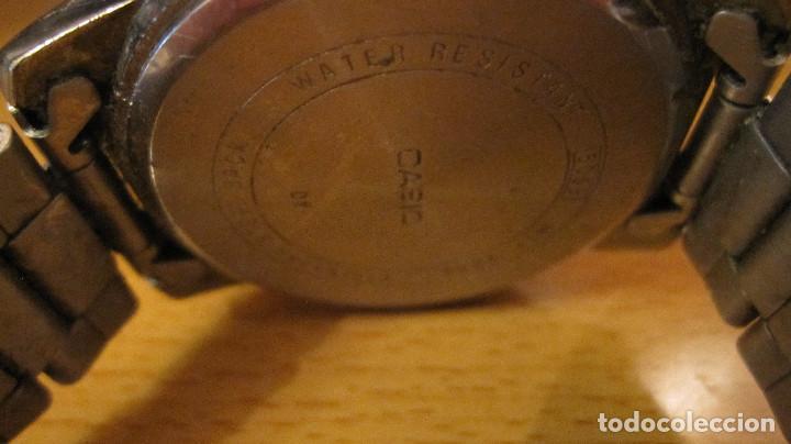 Relojes - Casio: GRAN RELOJ CASIO ANALOGICO, ACERO, CALENDARIO,FUNCIONANDO QUARTZ.DIAMETRO 40 MM.EN ESTUCHE CASIO - Foto 8 - 218473721