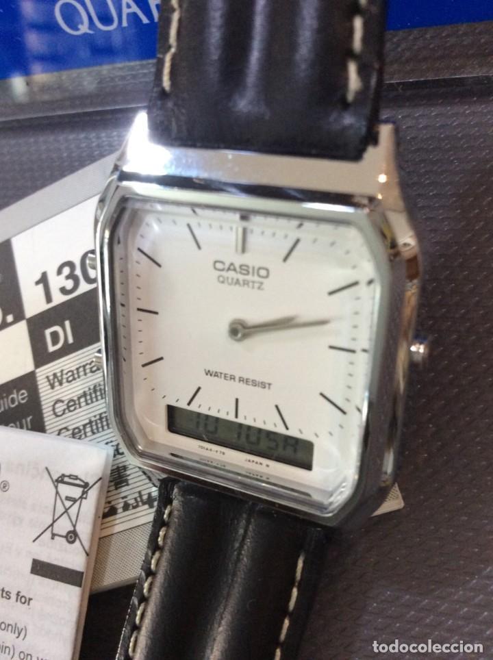 RELOJ CASIO AQ 230 B PIEL ¡¡ANA DIGI!! VINTAGE¡¡NUEVO!! (VER FOTOS) (Relojes - Relojes Actuales - Casio)