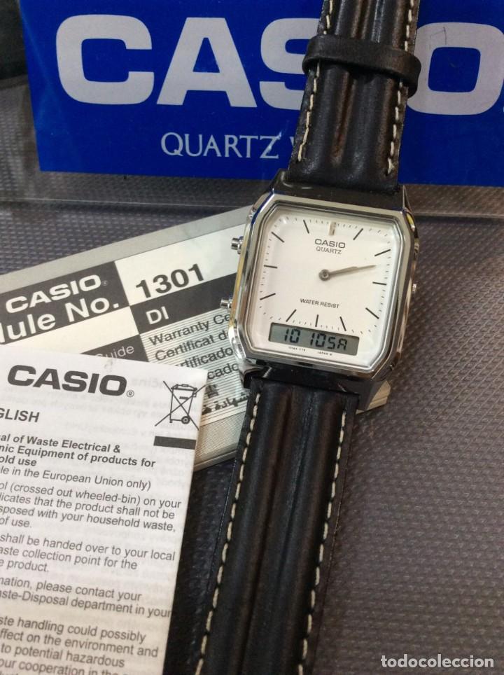 Relojes - Casio: RELOJ CASIO AQ 230 B PIEL ¡¡ANA DIGI!! VINTAGE¡¡NUEVO!! (VER FOTOS) - Foto 2 - 220656606