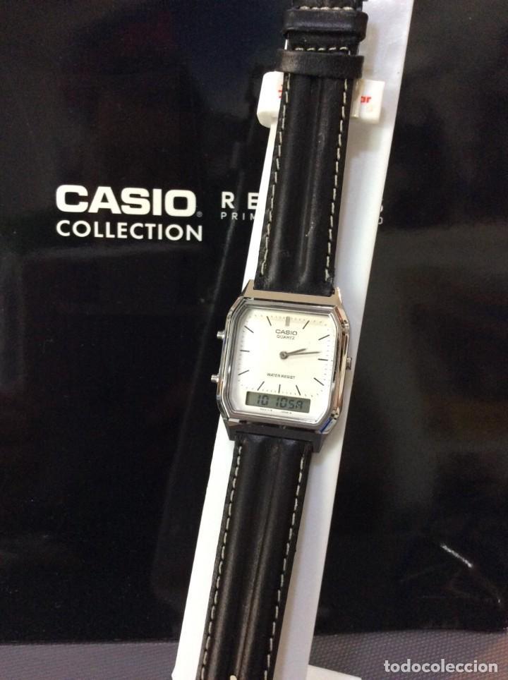Relojes - Casio: RELOJ CASIO AQ 230 B PIEL ¡¡ANA DIGI!! VINTAGE¡¡NUEVO!! (VER FOTOS) - Foto 3 - 220656606