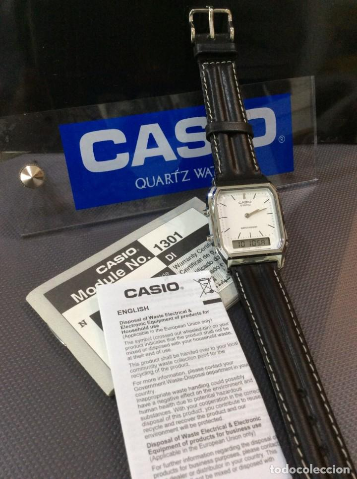 Relojes - Casio: RELOJ CASIO AQ 230 B PIEL ¡¡ANA DIGI!! VINTAGE¡¡NUEVO!! (VER FOTOS) - Foto 4 - 220656606
