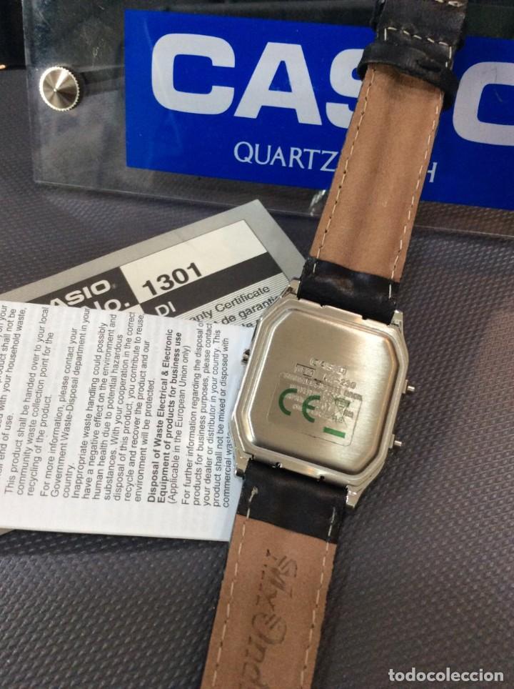 Relojes - Casio: RELOJ CASIO AQ 230 B PIEL ¡¡ANA DIGI!! VINTAGE¡¡NUEVO!! (VER FOTOS) - Foto 5 - 220656606