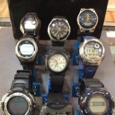 Relojes - Casio: ¡¡¡ 9 RELOJES CASIO VINTAGE !!! LOTE J - ¡¡¡ DEFECTUOSOS !!! (VER FOTOS). Lote 221705117