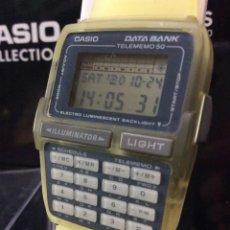 Relojes - Casio: RELOJ CASIO DBC 63 AMARILLO ¡¡CALCULADORA!! VINTAGE1994 ¡¡NUEVO!! (VER FOTOS). Lote 222277306