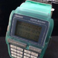 Relojes - Casio: RELOJ CASIO DBC 63 VERDE ¡¡CALCULADORA!! VINTAGE1994 ¡¡NUEVO!! (VER FOTOS). Lote 222278317