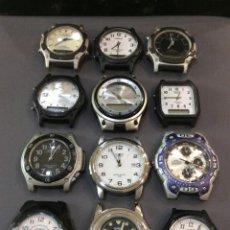 Relojes - Casio: ¡¡ 12 RELOJES CASIO VINTAGE ¡¡ LOTE E ¡¡ DEFECTUOSOS !! (VER FOTOS). Lote 223517413