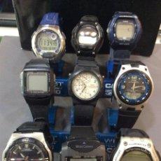 Relojes - Casio: ¡¡ 9 RELOJES CASIO VINTAGE ¡¡ LOTE J ¡¡ DEFECTUOSOS !! (VER FOTOS). Lote 223517620