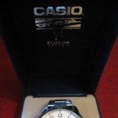 Relojes - Casio: GRAN RELOJ CASIO ANALOGICO, ACERO, CALENDARIO,FUNCIONANDO QUARTZ.DIAMETRO 40 MM.EN ESTUCHE CASIO. Lote 218473721