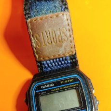 Relojes - Casio: RELOJ CASIO ORIGINAL F-91 W DE PULSERA SUMERGIBLE. Lote 232002095