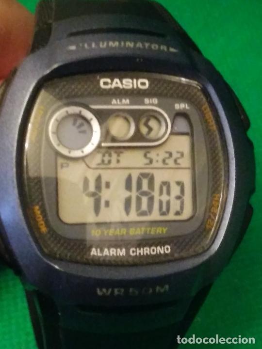 Relojes - Casio: RELOJ CASIO W 210 ¡¡ SPORT AZUL - NEGRO. !! VINTAGE (VER FOTOS) - Foto 2 - 232014990