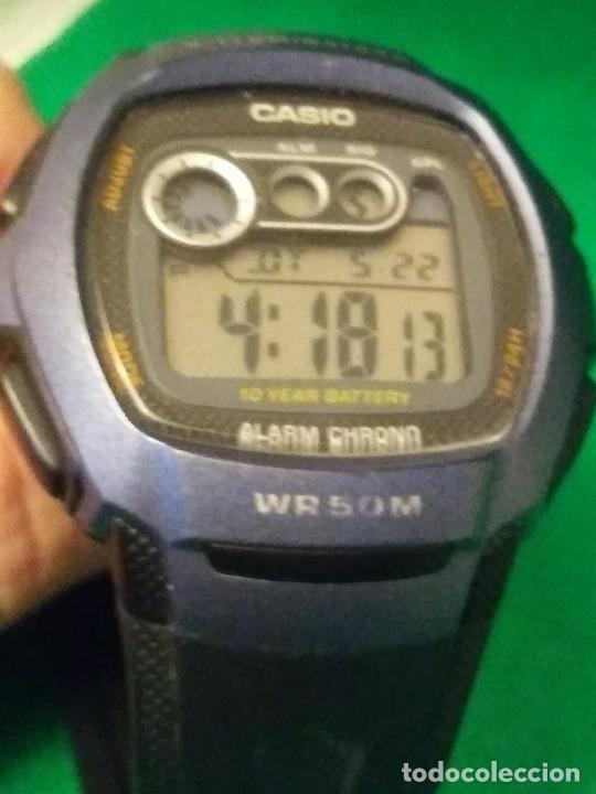 Relojes - Casio: RELOJ CASIO W 210 ¡¡ SPORT AZUL - NEGRO. !! VINTAGE (VER FOTOS) - Foto 3 - 232014990