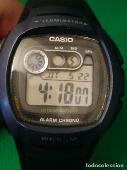 RELOJ CASIO W 210 ¡¡ SPORT AZUL - NEGRO. !! VINTAGE (VER FOTOS) (Relojes - Relojes Actuales - Casio)