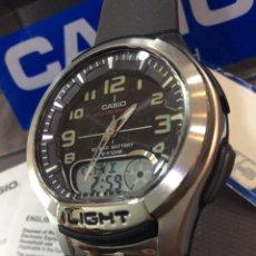 Relojes - Casio: RELOJ CASIO AQ 180 G ¡¡BATERIA 10 AÑOS!! VINTAGE ¡¡NUEVO!! (VER FOTOS). Lote 233385715