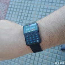 Relojes - Casio: PERFECTO RELOJ CALCULADORA DE 1986 VINTAGE NEW OLD STOCK. Lote 234045100