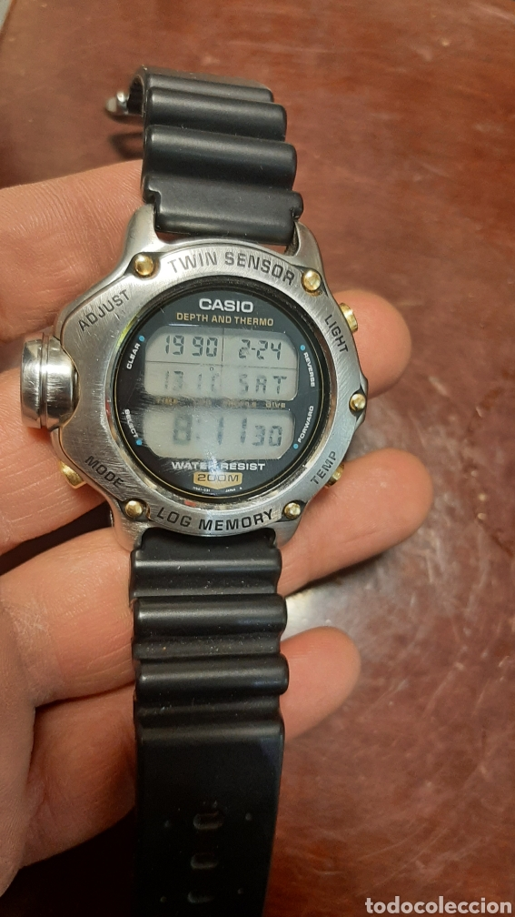 RELOJ CASIO DEPTH AND THERMO TWIN SENSOR WATER RESIST 200M (Relojes - Relojes Actuales - Casio)