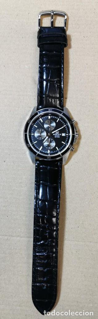 Relojes - Casio: RELOJ CASIO EDIFICE INOX ACERO INOXIDABLE, 10 BAR, CORREA DE CUERO para Hombre Y Mujer. COMO NUEVO - Foto 2 - 234763025