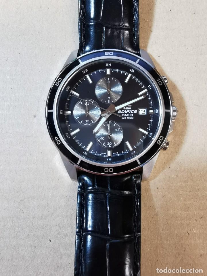 Relojes - Casio: RELOJ CASIO EDIFICE INOX ACERO INOXIDABLE, 10 BAR, CORREA DE CUERO para Hombre Y Mujer. COMO NUEVO - Foto 7 - 234763025