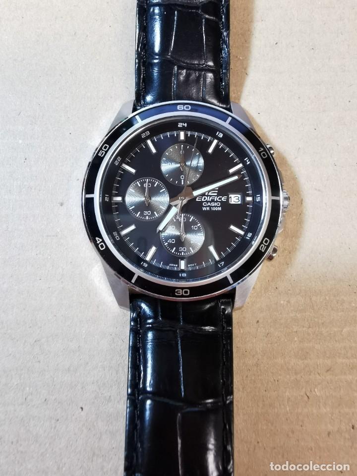 Relojes - Casio: RELOJ CASIO EDIFICE INOX ACERO INOXIDABLE, 10 BAR, CORREA DE CUERO para Hombre Y Mujer. COMO NUEVO - Foto 8 - 234763025