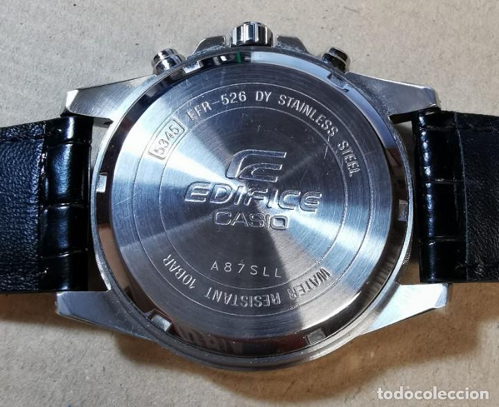 Relojes - Casio: RELOJ CASIO EDIFICE INOX ACERO INOXIDABLE, 10 BAR, CORREA DE CUERO para Hombre Y Mujer. COMO NUEVO - Foto 13 - 234763025