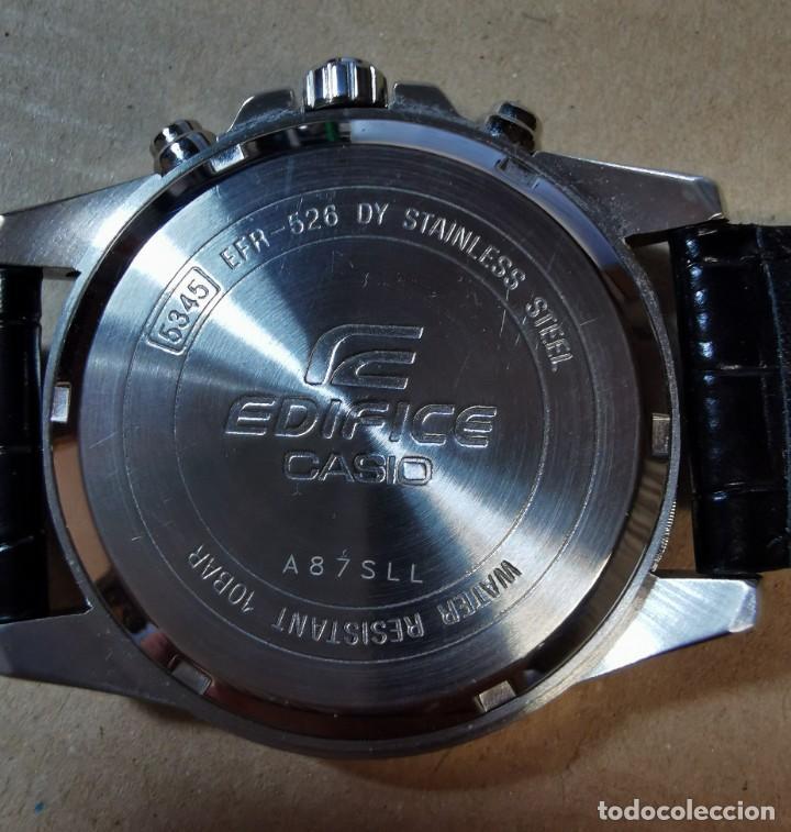 Relojes - Casio: RELOJ CASIO EDIFICE INOX ACERO INOXIDABLE, 10 BAR, CORREA DE CUERO para Hombre Y Mujer. COMO NUEVO - Foto 14 - 234763025